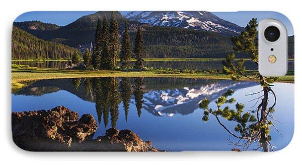 Sparks Lake Sunrise IPhone Case by Mark Kiver