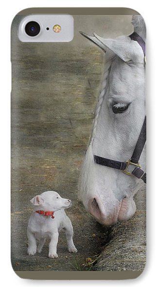 Sparky And Sterling Silvia IPhone Case by Fran J Scott