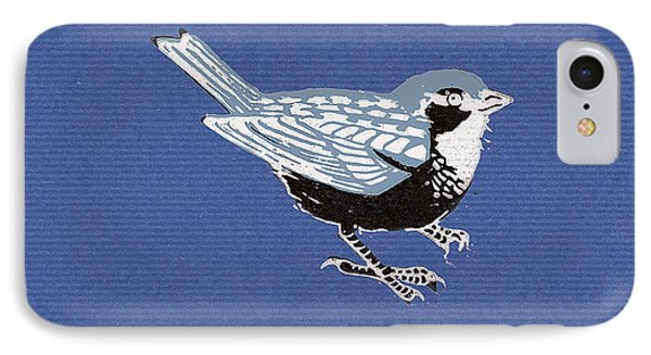 Sparrow, 2013 Woodcut IPhone Case by Nat Morley