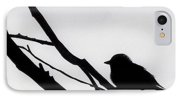 IPhone Case featuring the drawing Sparrow In A Gray Sky by D Hackett