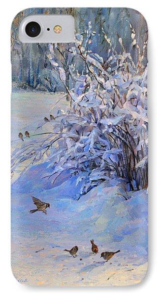 Sparrow On Snow IPhone Case