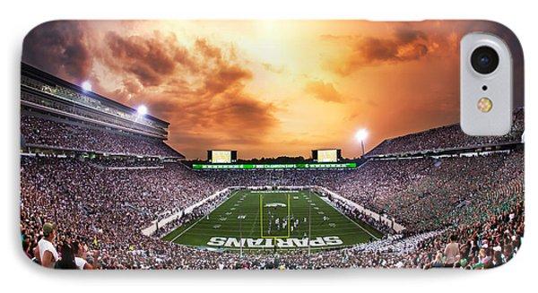Michigan State iPhone 7 Case - Spartan Stadium by Rey Del Rio