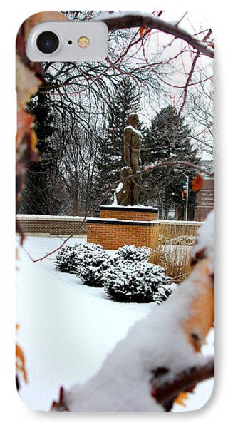 Sparty In The Winter IPhone Case by John McGraw