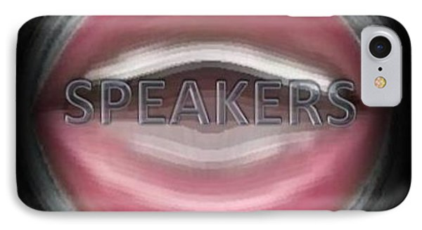 IPhone Case featuring the digital art Speakers by Catherine Lott