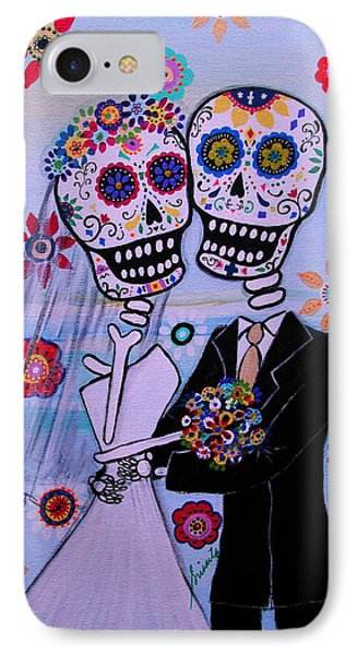 Special Day Dia De Los Muertos Wedding IPhone Case by Pristine Cartera Turkus