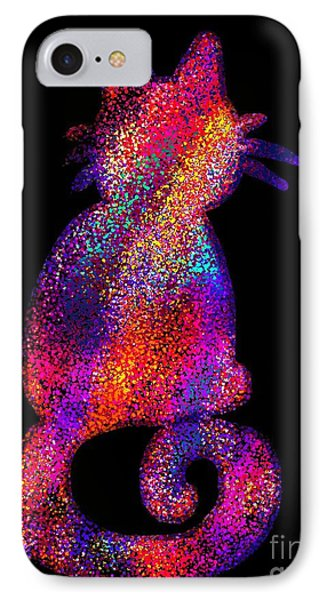 Speckled Rainbow Cat Phone Case by Nick Gustafson