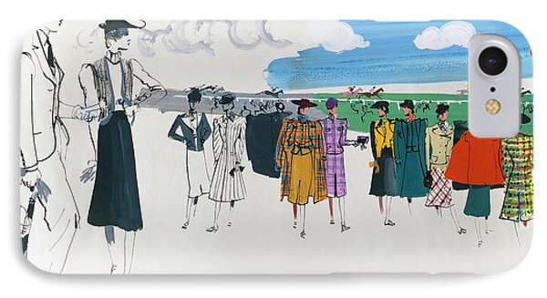 Spectators At A Horse Race IPhone Case by Jean Pag?s