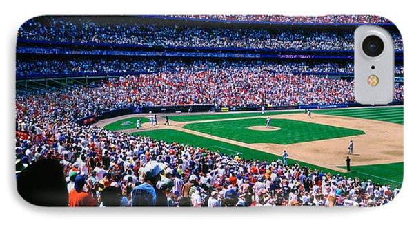 Spectators In A Baseball Stadium, Shea IPhone Case