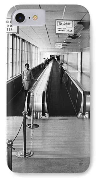 Speedwalk Conveyors At Sfo IPhone Case by Underwood Archives