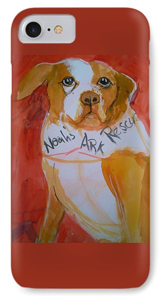 IPhone Case featuring the painting Spencer The Pit Bull by Gertrude Palmer