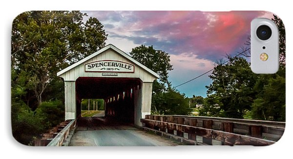 Spencerville Covered Bridge At Sunset IPhone Case