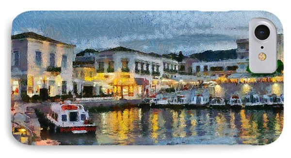 Spetses Town During Dusk Time IPhone Case