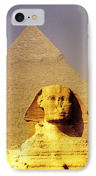 Sphinx And Pyramid IPhone Case by Dennis Cox WorldViews