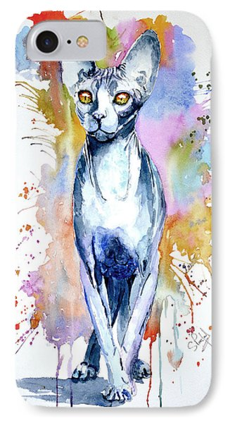 IPhone Case featuring the painting Sphinx Cat by Steven Ponsford