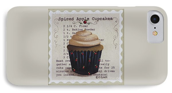 Spiced Apple Cupcake IPhone Case by Catherine Holman