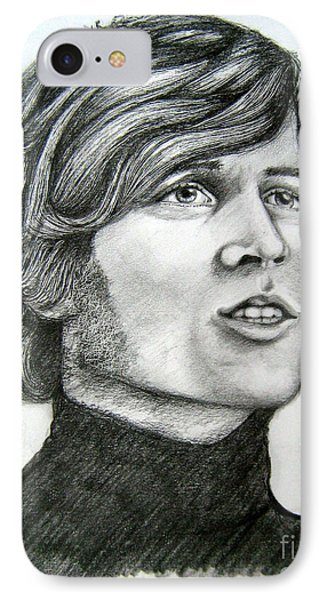 IPhone Case featuring the drawing  A Young Barry Gibb by Patrice Torrillo