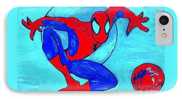 Spider-man  IPhone Case by Saundra Myles