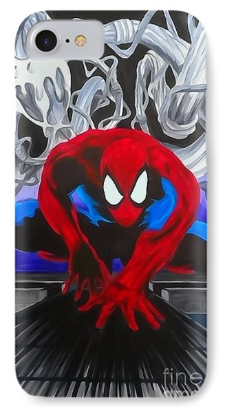 Spider-man Watercolor IPhone Case by Justin Moore