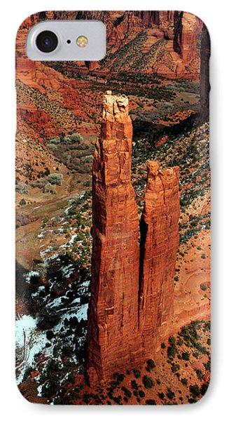 Spider Rock, Canyon De Chelly, Arizona IPhone Case by Michel Hersen