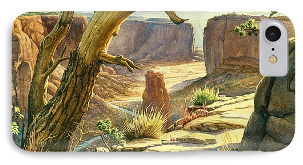Spider Rock Overlook - Canyon Dechelly IPhone Case by Paul Krapf
