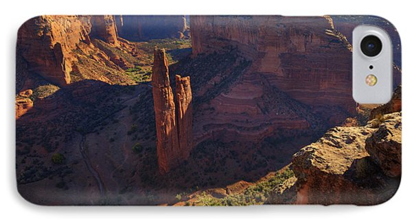 IPhone Case featuring the photograph Spider Rock Sunrise by Alan Vance Ley