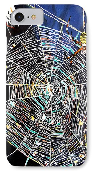 IPhone Case featuring the painting Spider Web by Daniel Janda