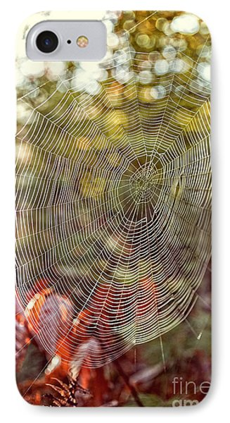 Spider Web IPhone 7 Case by Edward Fielding