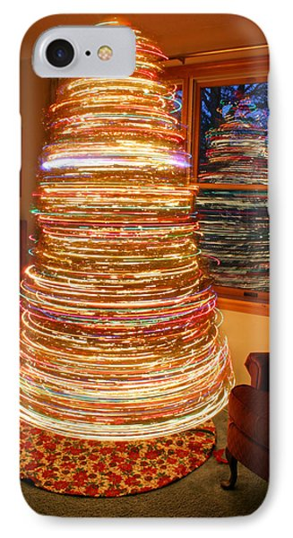 Spinning Christmas Tree IPhone Case