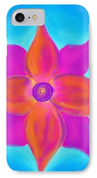 Spiral Flower IPhone Case by Daina White