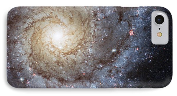 Spiral Galaxy M74 IPhone Case by Adam Romanowicz