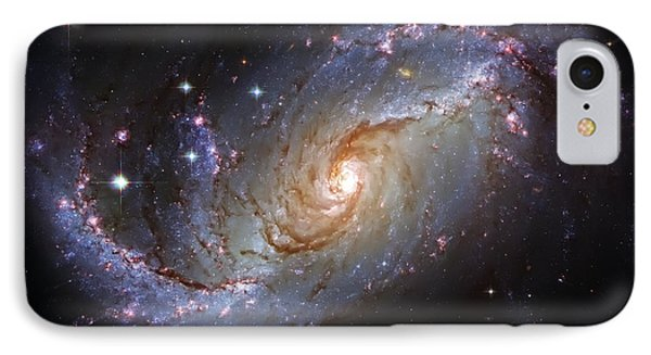 Spiral Galaxy Ngc 1672 Phone Case by Jennifer Rondinelli Reilly - Fine Art Photography