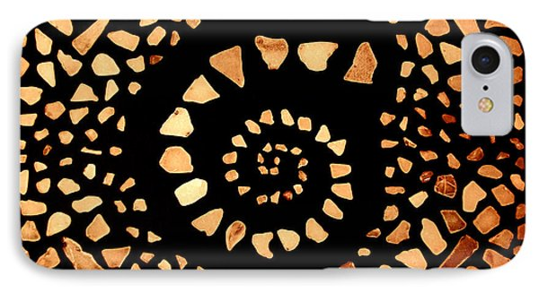 IPhone Case featuring the mixed media Spiral by Kjirsten Collier