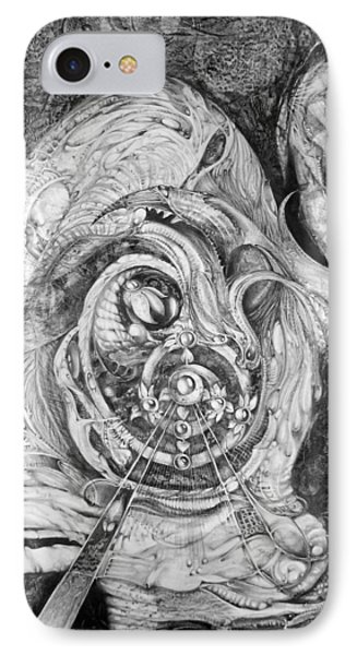 IPhone Case featuring the painting Spiral Rapture 2 by Otto Rapp