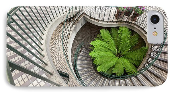 Spiral Staircase At The Embarcadero IPhone Case by Chuck Haney