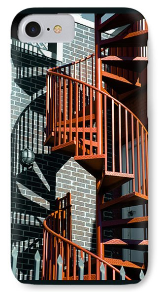 Spiral Stairs - Color Phone Case by Darryl Dalton