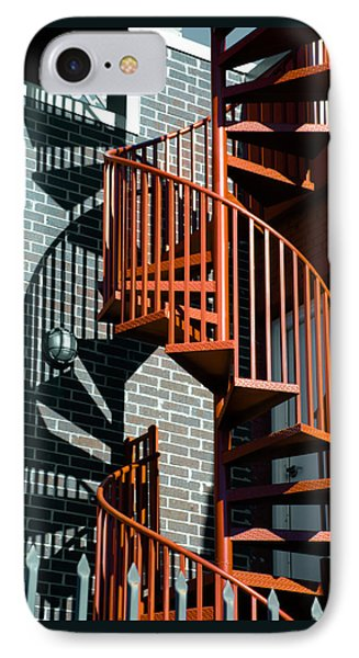 Spiral Stairs - Color IPhone Case by Darryl Dalton