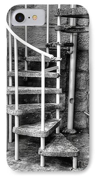Spiral Steps - Old Sandstone Church Phone Case by Kaye Menner