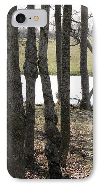 IPhone Case featuring the photograph Spiral Trees by Nick Kirby