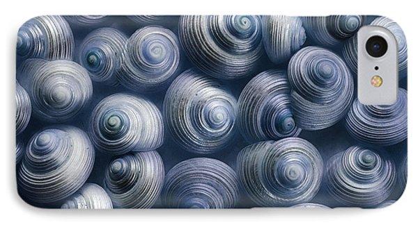 Spirals Blue IPhone Case