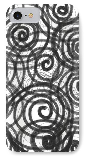 Spirals Of Love IPhone Case by Daina White