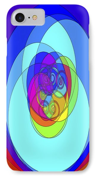 IPhone Case featuring the digital art Spirals - Phone Case Design by Gregory Scott