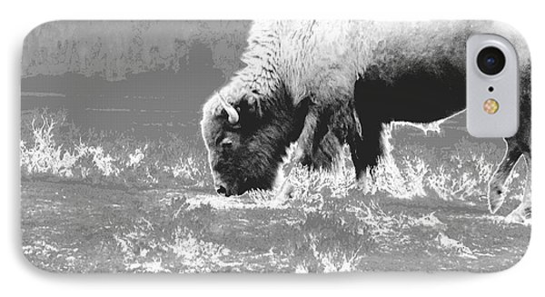 IPhone Case featuring the photograph Spirit Bison by Ann Johndro-Collins