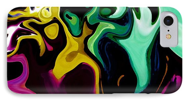 Spirit Dance An Abstract Modern Contemporary Digital Art IPhone Case by Annie Zeno