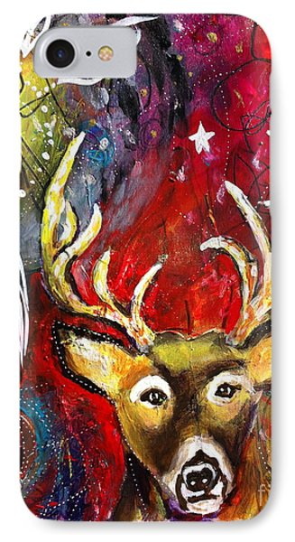 Spirit Deer And The Dreamcatcher IPhone Case by Kim Heil