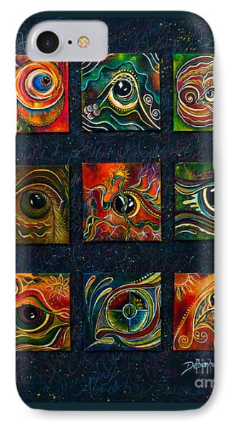IPhone Case featuring the painting Spirit Eye Collection I by Deborha Kerr
