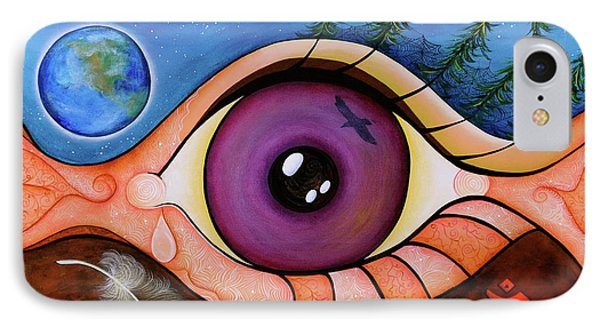 IPhone Case featuring the painting Spirit Eye by Deborha Kerr