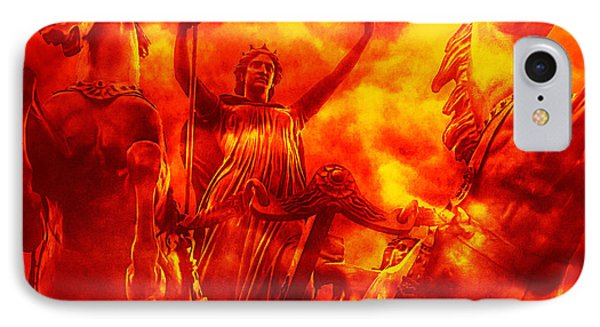 IPhone Case featuring the photograph Spirit Of Boudica Rising by Nigel Fletcher-Jones