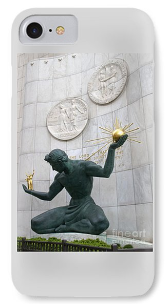 Spirit Of Detroit Monument IPhone Case by Ann Horn