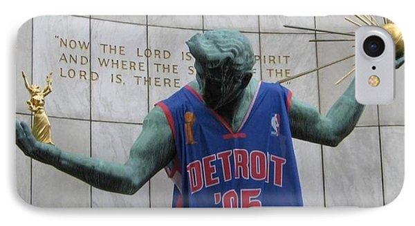Spirit Of Detroit Piston IPhone Case