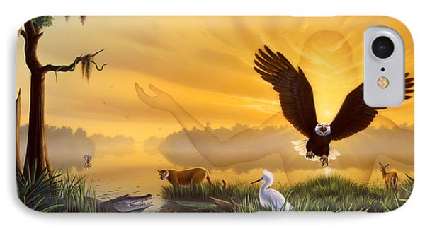 Eagle iPhone 7 Case - Spirit Of The Everglades by Jerry LoFaro